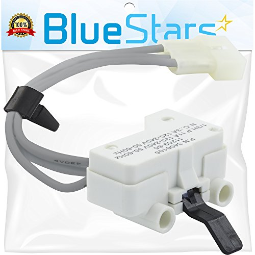 Ultra Durable 3406105 Dryer Door Switch Replacement Part by Blue Stars- Exact Fit for Kenmore Whirlpool KitchenAid Dryer- Replaces 3405104 3405105 3406104