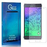 Displayschutzfolie für Samsung Galaxy Alpha, MelinHot Ultra klar Schutzfilm aus Gehärtetem Glas, Anti Öl, Anti Kratzen, Hoch Transparenz, 2 Stück