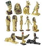 6 x 6 x 22 cm. Adornos y Esculturas Coleccionismo Figura Decorativa Egipcia Osiris Figuras Resina