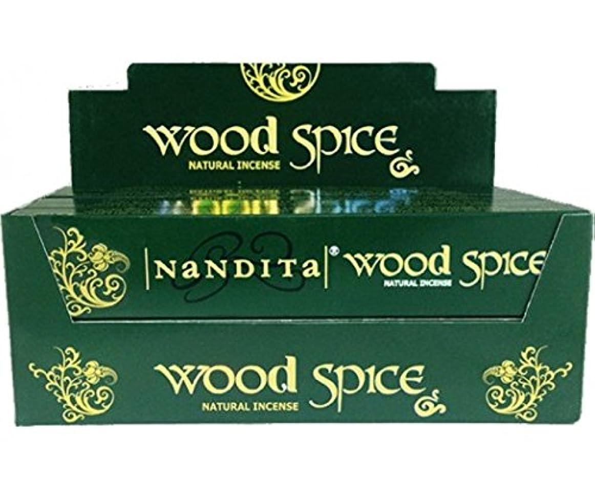 幻想的優先狂うNandita Wood Spice Incense Sticks 12?x 15?gms Agarbathi
