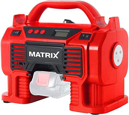 MATRIX AC 20V accu-compressor X-One Serie 11 bar werkdruk bandenpomp balnaald (zonder accu en oplader)