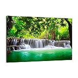 Cuadro sobre lienzo - Impresión de Imagen - Agua parque naturaleza paisaje - 100x70cm - Imagen Impresión - Cuadros Decoracion - Impresión en lienzo - Cuadros Modernos - AA100x70-2502