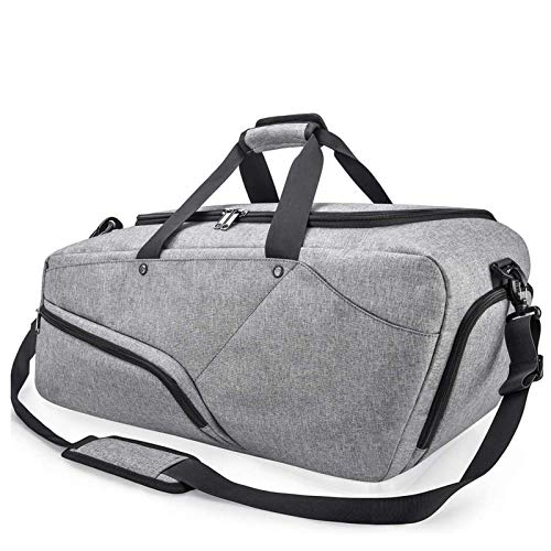 Gym Bag Sports Duffle Bag with Shoe Compartment Waterproof Large Travel Holdall Bags Weekend Bag for Men and Women