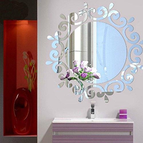 Lunji Miroir Sticker Mural, Acrylique Autocollant Miroir - Mural Deco