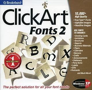 Broderbund's ClickArt 10,000+ Fonts 2
