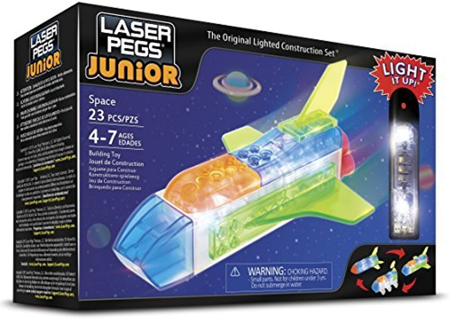 Laser Pegs Juniors 3 In 1 Space Building Kit by Laser Pegs