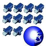 NO LOGO XFC-Bombillas, Instrumentos Rojo 10pcs for B8.3D del Coche LED Cluster Indicadores de Controles Hielo Blanco Azul Verde Rojo de luz del Panel de los bulbos de lámparas (Emitting Color : Blue)