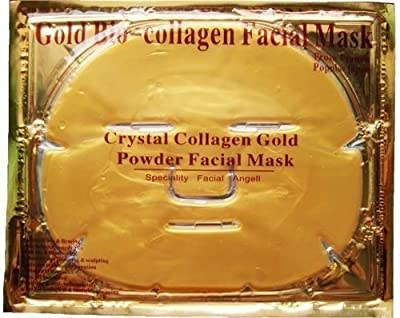 6 XGold Bio-Collagen Facial Mask, Anti-Aging, Hydrating, Moisturizing Face Mask from Let Go 1