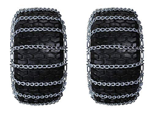 Laclede Superb Heavy Duty Set of 2 18X9.50-8 tire Chains with Tighteners