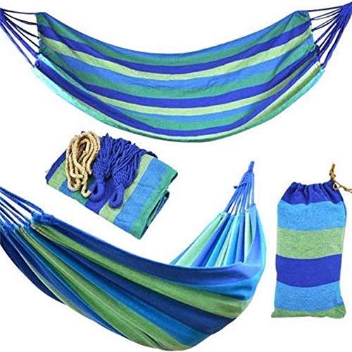 nobrand Hammock Camping Tragbarer Thick Doppel- und Einzelaufbewahrungstasche Ultra Tragbare Seile atmungsaktiv brasilianischer-Style im Freien wandernden 200 x 100 Zoll