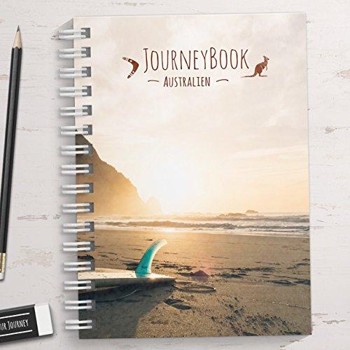 Reisetagebuch Australien zum selberschreiben/als Geschenk - DIN A5 mit interaktiven Aufgaben und Challenges und Reise-Zitaten