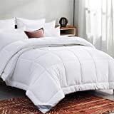 Bedsure Twin Comforter Duvet Insert White - Quilted Bedding Comforters for Twin Bed with Corner Tabs