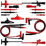AideTek Automotive 9-in-1 silicone test leads kit Insulation Piercing test clip crocodile clips up to 32A for FLUKE TLP20169