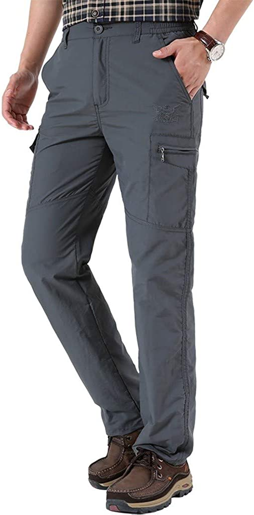 Beshion Cargo Pants for Men Casual Outdoor Fast-Drying Sweatpants Work Breathable Trousers Jogger Running Hunting Pant