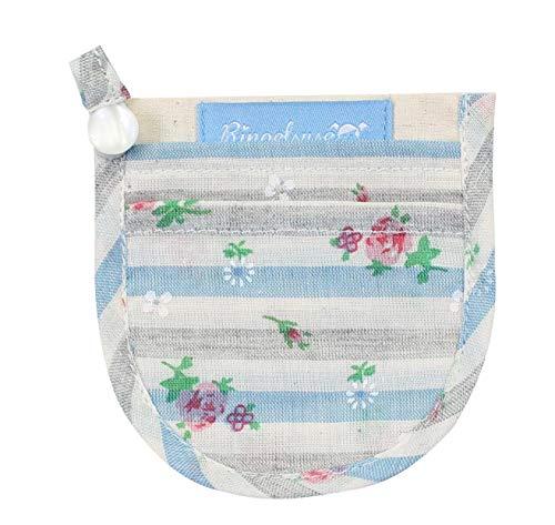 Mini Geldbörse Portemonnaie für den BH Damen Mädchen Blumen Streifen 9 x 8,5 cm Baumwolle Fairtrade Ringelsuse