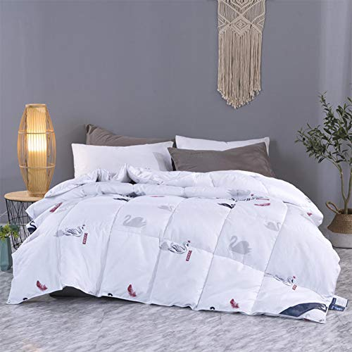 WJYHXW Feather Down Duvet Luxurious Hotel Quality White Goose Down Comforter Quilt Down-Proof Pure Cotton Fabric Shell Available in Four Sizes,150x200cm(59x79inches)