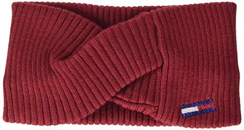 Tommy Hilfiger Damen Tjw Basic Flag Rib Headband Hut, Wine Red, OS