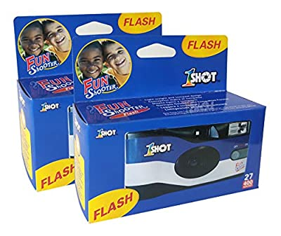 Disposable Single Use 35mm Film Camera One Shot Fun Shooter 400 ASA/ISO 27 Exposures with Flash 2-Pack by Xiamen Xiangjiang Plasticity Co., Ltd.