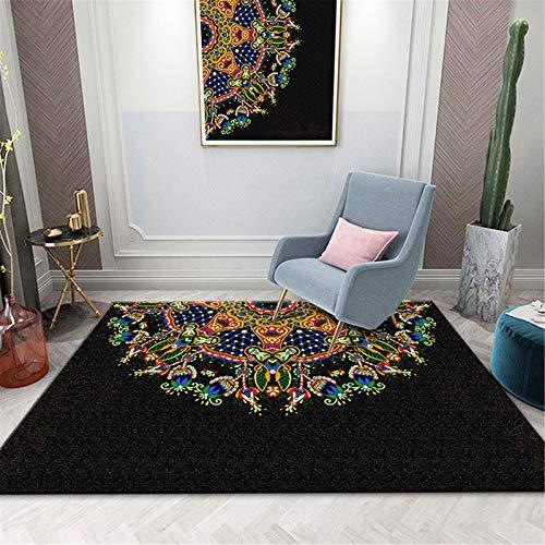 MMHJS Patrón De Mandala De Alfombra De Impresión En El Hogar Adecuado para Sala De Estar Estudio Dormitorio Alfombra 50x80cm