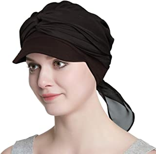 Organic Bamboo Cap with Scarf Gifts for Women with Chemo Cancer Hair Loss