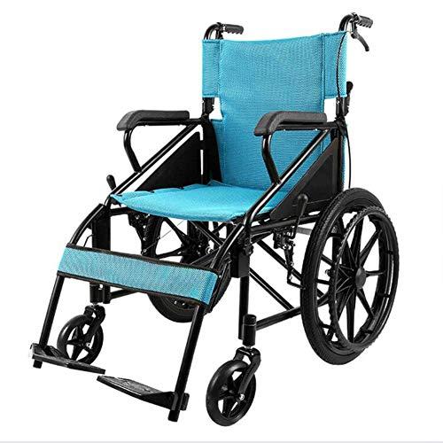 ZXMDP Lichtgewicht en opvouwbaar frame, rolstoel, voor auto, transport, draagbaar, reizen, chairfor, rolstoel, handmatig, geschikt voor oudere mensen