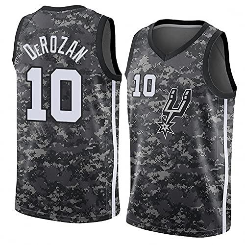 AGLT 2021 Hombre Basketball Jersey NBA The Spurs n#10 DeRozan Ropa de Baloncesto Camisetas Al Aire Libre Casual Mujer Verano Cuello Redondo Warm-up Suit CháNdales,Multicoloured,XL