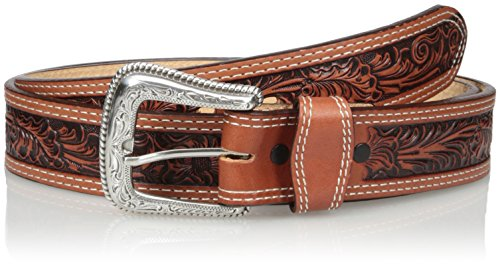 Nocona Belt Co. Men's Tan Mexican Floral Embose, 36