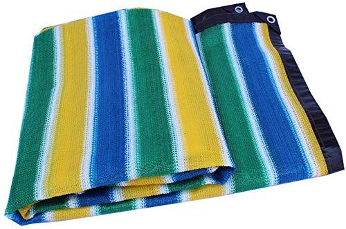 MWXFYWW Tasa de sombreado 90% Cifrado de Rayas de Color Ventilación Flores Planta Verde Suculentas Sombreado al Aire Libre Valla de Red Pantalla de privacidad Paño de Sombra