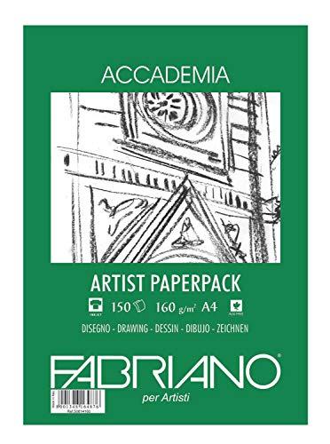 Générique Fabriano Bloc à Dessin, Coton, Blanc, 29.7 x 442 x 0.5 cm