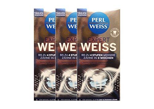 3x Expert ZC Weiss-Zahnweiss, 50 ml Zahnpasta Zahncreme Zahnweiß PERLWEISS