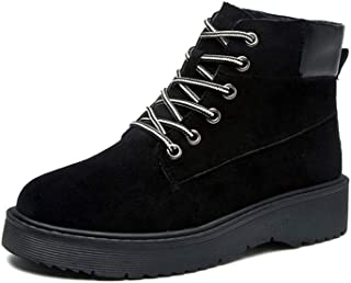 [G7LZ] ラウンドトゥ ブーツ 無地 編み上げ 滑り止め 通気性 歩きやすい エンジニアブーツ スウェード ローヒール マーティンブーツ 厚底 着痩せ カジュアルシューズ レディース靴 超楽 婦人向け ワークブーツ ショートブーツ