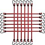 Juego de 12 tensores de equipaje con ganchos, extra fuertes en 65 cm de longitud...