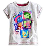 Disney Store Deluxe Inside Out Tee T Shirt Size M 7-8 Fear Joy Anger Disgust White
