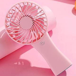 CJW Ventilador de Mano de Verano para niña - Nueva batería portátil de Litio de Compras (Color : Pink)