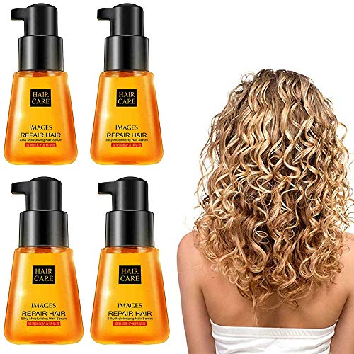 YXKC 1/2/4 Pcs Super Curl Defining Booster Hair Fixing Hair Care Essence Oil Care Treatment Nourishing Oil Helps to Soften and Shiny Hair Hair Treatment Oil for Dry Damaged Hair (4PCS)