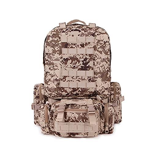 CNBPLS Tactical Army Zaini Zaino, Impermeabile Mimetico Zaino Tattico, Per Arrampicata All'aperto,4,One Size