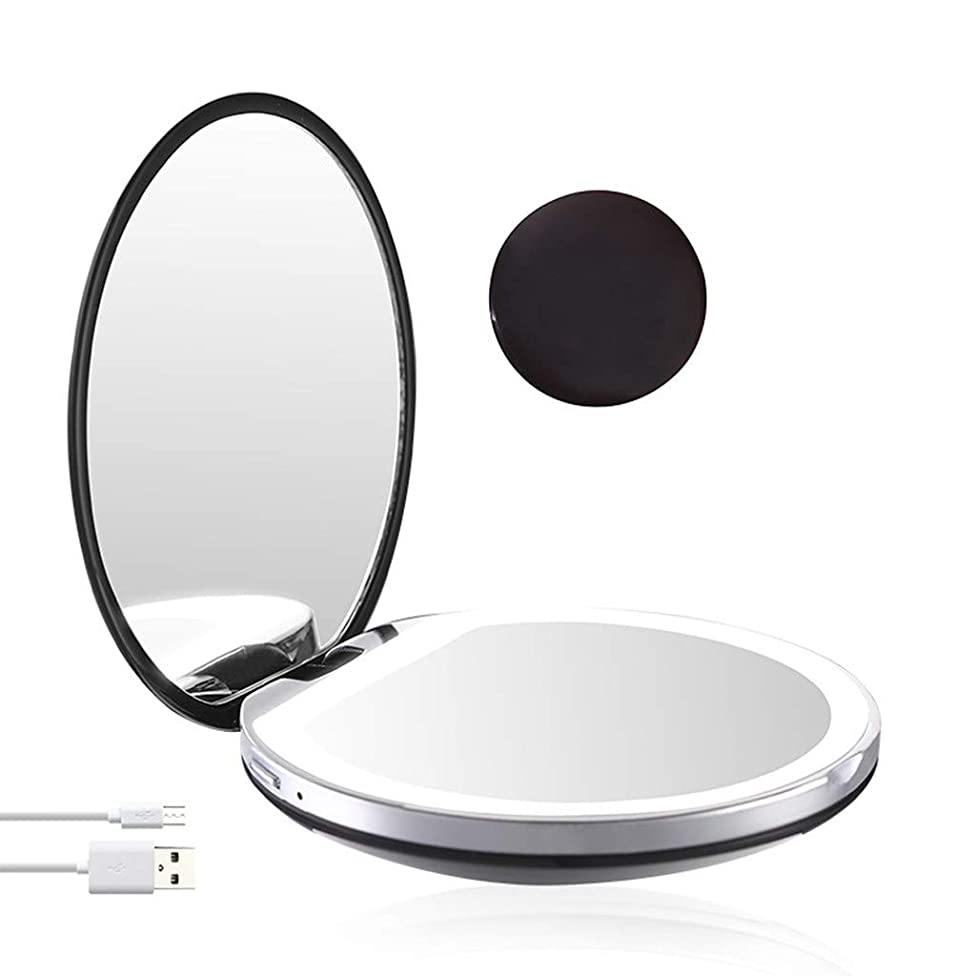 Startview Travel Makeup Mirror 1x/3x Magnification Folding Mirror Portable LED Mirror
