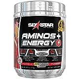 Six Star Aminos Plus Energy, BCAA Powder, Fruit Punch, 40 Servings, 277 Gram
