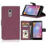 Funda Lenovo K6 Note / K6 Plus,Bookstyle 3 Card Slot PU Cuero Cartera para TPU Silicone Case Cover(Rosa)