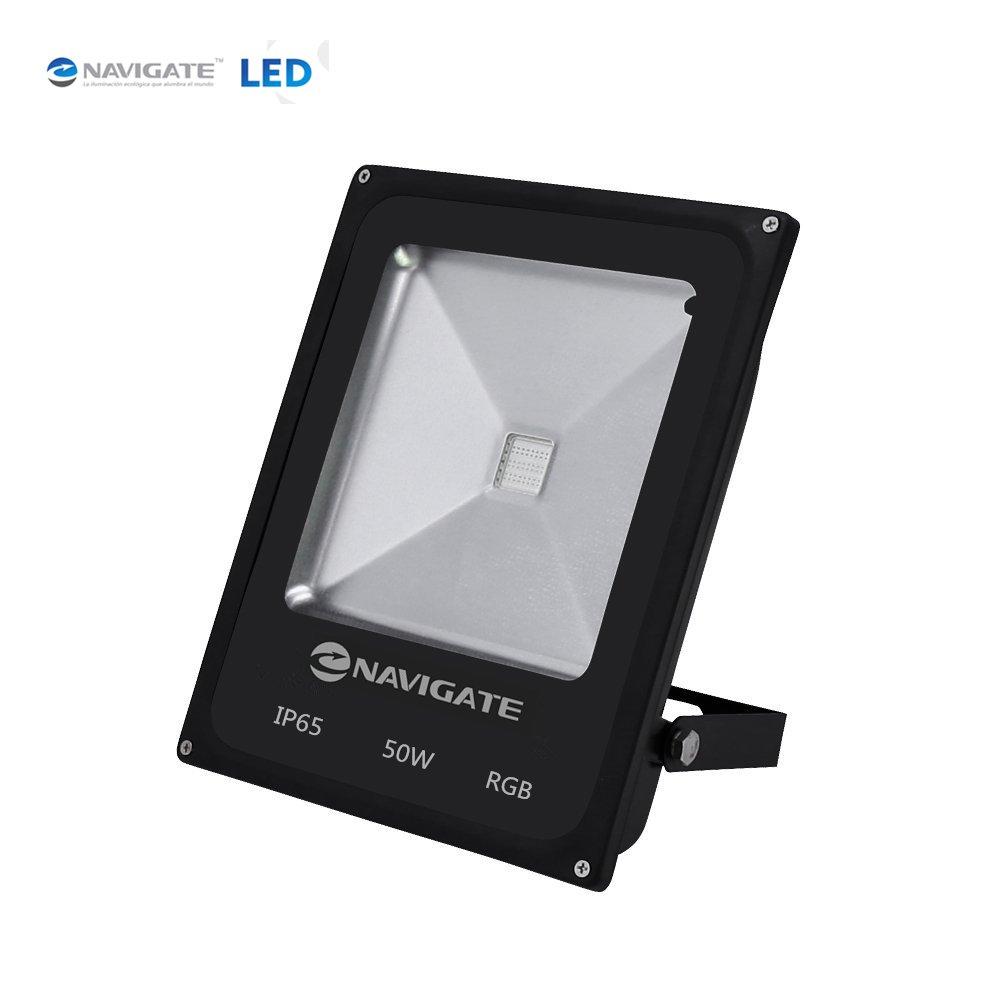 Foco Proyector LED 50W 4000lm IP65(RGB) Con Mando NAVIGATE ...