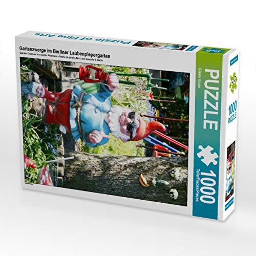 CALVENDO Puzzle Gartenzwerge im Berliner Laubenpiepergarten 1000 Teile Lege-Größe 48 x 64 cm Foto-Puzzle Bild von Gisela Kruse