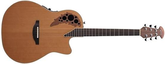 Ovation S de guitarra acústica Elite T MID Cutaway Cedar Natural 1778de TX de 4cs