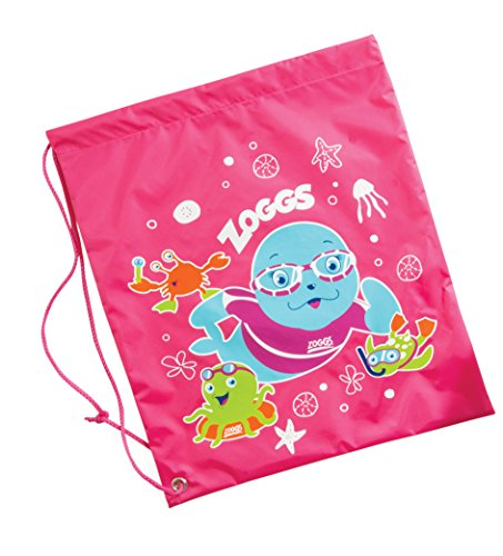 Zoggs Kids Handy Drawstring Bag Rucksack Suitable for Pool Pink Size 435 x 335 cm