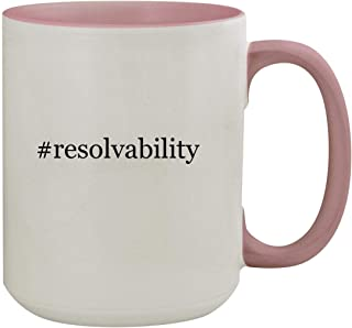 #resolvability - 15oz Hashtag Colored Inner & Handle Ceramic Coffee Mug, Pink