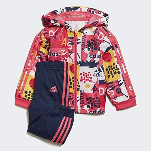 adidas I Shiny FZ HD J Trainingsanzug für Babys, Unisex, Rosrea, 74