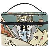 Bolso cosmético Gentleman 'S Skull Logo Maquillaje multifunción Kit de aseo de viaje Organizador Estuche con cremallera