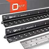 12-Inch Architectural Scale Ruler Set (Imperial)  ...