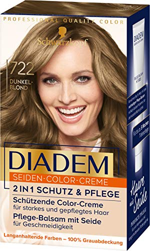 Diadem Seiden-Color-Creme 722 Dunkelblond Stufe 3, 3er Pack(3 x 170 ml)