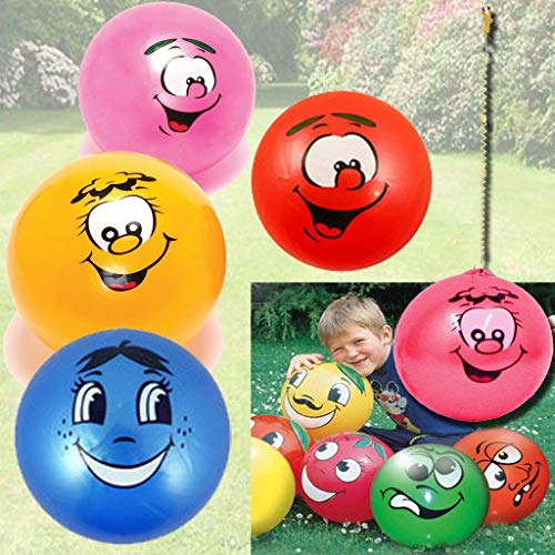 Unibos X2 Large Fruity Smelly Scented Kids Fruit Balls Bounce Face Smile Home School Birthdays Indoor Outdoor Brand New