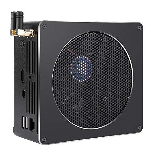 Mini Host De Computadora para Intel I7 8750H para Intel Core I7 8750Hk 6 NúCleos, Compatible con Red InaláMbrica De Doble Banda 2.4G / 5G Y Salida 4K, 16GBRAW 256Gb SSD(Enchufe de la UE)